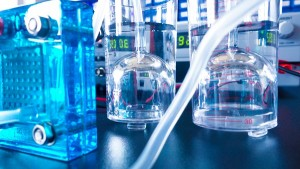 hydrogen fuel cell in a laboratory